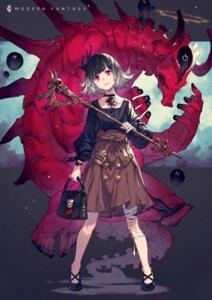Rating: Safe Score: 22 Tags: bandages blood kusano_shinta monster weapon User: Mr_GT