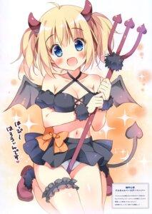 Rating: Questionable Score: 37 Tags: cleavage devil garter halloween horns loli pan pan_no_mimi pantsu tail weapon wings User: kiyoe