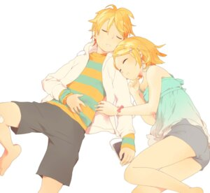 Rating: Safe Score: 10 Tags: kagamine_len kagamine_rin utako vocaloid User: Radioactive