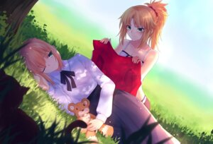 Rating: Safe Score: 21 Tags: fate/grand_order fate/stay_night gogatsu_fukuin mordred_(fate) saber User: Nepcoheart