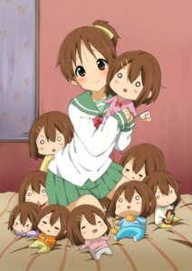 Rating: Safe Score: 45 Tags: chibi hirasawa_ui hirasawa_yui k-on! ragho_no_erika seifuku User: mahoru