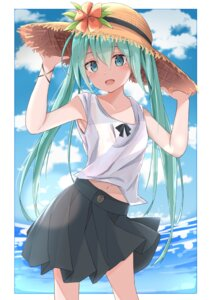 Rating: Safe Score: 35 Tags: hatsune_miku maud0239 see_through skirt_lift vocaloid wet_clothes User: Mr_GT