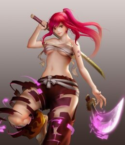 Rating: Questionable Score: 45 Tags: erza_scarlet fairy_tail renyu1012 sarashi sword underboob User: Radioactive