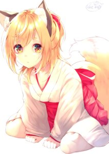Rating: Safe Score: 31 Tags: animal_ears chita_(ketchup) japanese_clothes kitsune signed tail User: Mr_GT