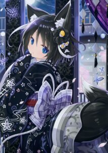 Rating: Safe Score: 114 Tags: animal_ears kimono tail yano_mitsuki User: Hatsukoi