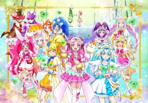 Rating: Safe Score: 7 Tags: animal_ears bunny_ears dress garter hugtto!_precure kirakira_precure_a_la_mode mahou_girls_precure! pretty_cure see_through tagme thighhighs User: saemonnokami