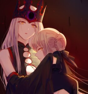 Rating: Safe Score: 28 Tags: cleavage fate/grand_order fate/stay_night irisviel_von_einzbern saber saber_alter xing_muhen User: Nepcoheart