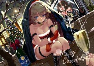 Rating: Safe Score: 40 Tags: bsue christmas cleavage garter shimamura_uzuki takagaki_kaede the_idolm@ster the_idolm@ster_cinderella_girls User: BattlequeenYume