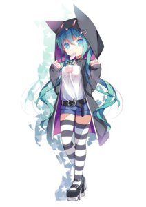 Rating: Safe Score: 66 Tags: hatsune_miku saru thighhighs vocaloid User: fairyren