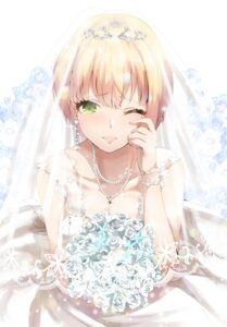 Rating: Safe Score: 44 Tags: cleavage dress miyamoto_frederica ryuu. the_idolm@ster the_idolm@ster_cinderella_girls wedding_dress User: Mr_GT