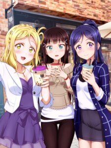 Rating: Safe Score: 24 Tags: ckst cleavage dress kurosawa_dia love_live!_sunshine!! matsuura_kanan ohara_mari sweater User: yanis