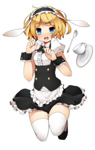 Rating: Safe Score: 34 Tags: gochuumon_wa_usagi_desu_ka? kinakomoti kirima_sharo thighhighs User: Radioactive