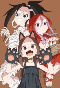 Rating: Questionable Score: 19 Tags: animal_ears bandages cosplay dress halloween karakai_jouzu_no_takagi-san kunoichi_tsubaki_no_mune_no_uchi little_red_riding_hood_(character) loli naked_ribbon nekomimi shougi_no_yatsu takagi-san tsubaki_(kunoichi_tsubaki_no_mune_no_uchi) yamamoto_souichirou yaotome_urushi User: Spidey