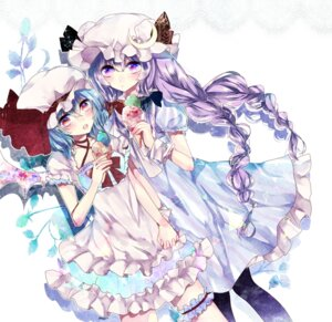 Rating: Safe Score: 17 Tags: dress garter ginzuki_ringo pantyhose patchouli_knowledge remilia_scarlet touhou User: KazukiNanako