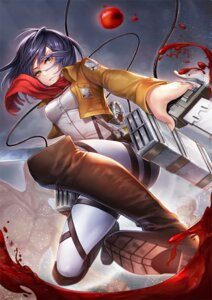 Rating: Questionable Score: 34 Tags: blood j.lili mikasa_ackerman shingeki_no_kyojin sword User: Radioactive