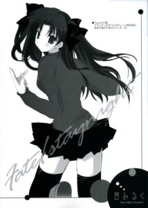 Rating: Safe Score: 2 Tags: fate/stay_night ikegami_akane monochrome thighhighs toosaka_rin User: admin2