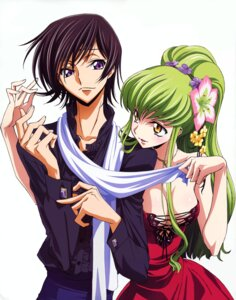 Rating: Questionable Score: 40 Tags: c.c. cleavage code_geass detexted dress kimura_takahiro lelouch_lamperouge no_bra User: YamatoBomber
