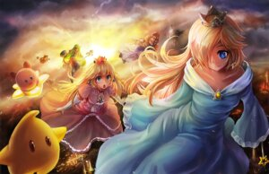 Rating: Safe Score: 39 Tags: dress freeze-ex hakurei_reimu kirby_(character) luma palutena princess_peach_toadstool princess_zelda rosalina super_smash_bros. touhou weapon User: Irdiumraven