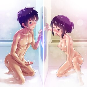Rating: Explicit Score: 45 Tags: censored kimi_no_na_wa masturbation minawa_(hemo) miyamizu_mitsuha naked nipples penis tachibana_taki wet User: mattiasc02