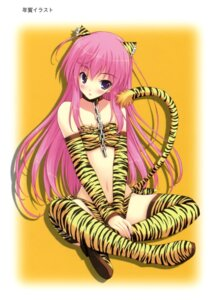 Rating: Safe Score: 19 Tags: amane_sou animal_ears hime_x_hime kujouin_saki tail thighhighs User: Ravenblitz