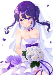 Rating: Questionable Score: 19 Tags: cleavage dress jubunnoichi_no_hanayome no_bra wedding_dress yukino_(yukinosora1126) User: Arsy