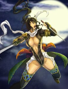 Rating: Questionable Score: 12 Tags: cleavage sword taizo thighhighs User: Radioactive