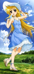 Rating: Safe Score: 63 Tags: dress fate_testarossa mahou_shoujo_lyrical_nanoha mahou_shoujo_lyrical_nanoha_a's okuda_yasuhiro summer_dress User: Jigsy