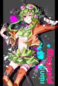 Rating: Safe Score: 12 Tags: garter gumi nou thighhighs underboob vocaloid User: shizukane