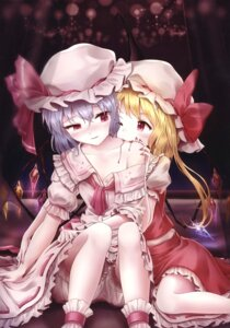 Rating: Safe Score: 45 Tags: blood bloomers flandre_scarlet minust open_shirt remilia_scarlet touhou wings yuri User: Radioactive