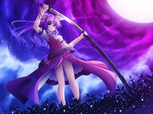 Rating: Safe Score: 19 Tags: akashio nopan sword touhou watatsuki_no_yorihime User: Nekotsúh