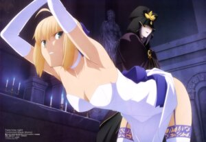 Rating: Questionable Score: 151 Tags: bondage caster cleavage dress fate/stay_night fate/stay_night_unlimited_blade_works saber shimabukuro_ricardo skirt_lift stockings thighhighs User: drop
