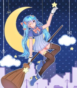 Rating: Safe Score: 34 Tags: dress hanami_dango_(zzldango) hatsune_miku heels thighhighs vocaloid User: blooregardo