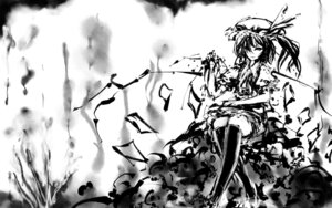 Rating: Safe Score: 7 Tags: flandre_scarlet hinomaru_(artist) monochrome touhou wallpaper User: charunetra