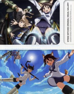 Rating: Safe Score: 6 Tags: lynette_bishop miyafuji_yoshika perrine-h_clostermann sakamoto_mio strike_witches teraoka_iwao User: admin2