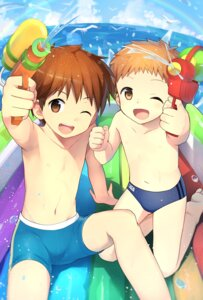 Rating: Safe Score: 6 Tags: cocolo_(co_co_lo) feet gun male swimsuits User: charunetra