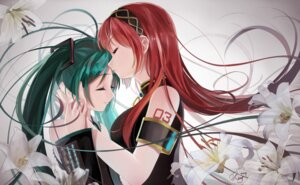 Rating: Safe Score: 44 Tags: hatsune_miku megurine_luka okingjo tattoo vocaloid User: mash