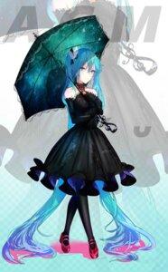 Rating: Safe Score: 19 Tags: dress hatsune_miku heels omone_hokoma_agm umbrella vocaloid User: Mr_GT
