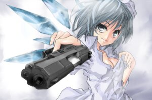 Rating: Safe Score: 21 Tags: cirno cleavage gun terabyte_(rook777) touhou User: bele