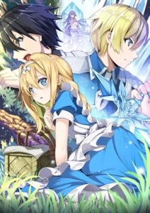 Rating: Safe Score: 27 Tags: alice_schuberg armor breast_hold dress eugeo jie_laite kirito naked quinella sword sword_art_online sword_art_online_alicization User: Mr_GT