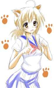 Rating: Safe Score: 15 Tags: animal_ears kamishiro_ryuu mizuno_kaede nekomimi nyan_koi seifuku User: Radioactive