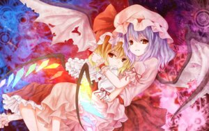 Rating: Safe Score: 18 Tags: flandre_scarlet kamumiya remilia_scarlet touhou wallpaper wings User: yumichi-sama