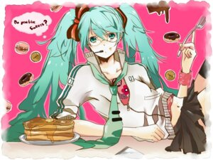 Rating: Safe Score: 12 Tags: hatsuko hatsune_miku megane thighhighs vocaloid User: Amperrior