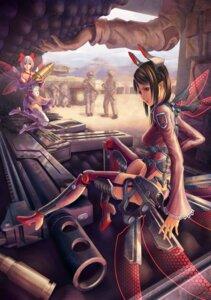 Rating: Safe Score: 24 Tags: fairy gun mecha_musume pinakes stockings thighhighs uniform wings User: eridani