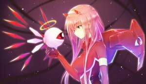 Rating: Safe Score: 34 Tags: bodysuit crossover darling_in_the_franxx horns kirby nyaa_(nnekoron) zero_two zero_two_(darling_in_the_franxx) User: charunetra