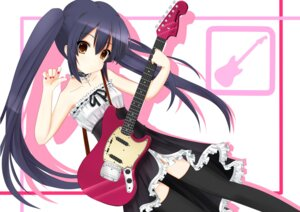 Rating: Safe Score: 35 Tags: dress guitar if k-on! lolita_fashion nakano_azusa thighhighs User: blooregardo