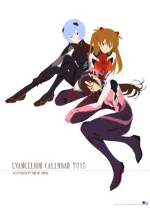 Rating: Safe Score: 21 Tags: ayanami_rei bodysuit calendar honda_takeshi makinami_mari_illustrious megane neon_genesis_evangelion souryuu_asuka_langley User: drop