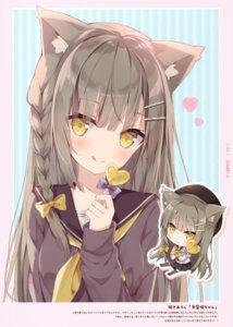 Rating: Safe Score: 24 Tags: animal_ears chibi hoshi nekomimi seifuku tagme User: kiyoe