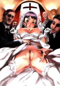 Rating: Explicit Score: 43 Tags: breasts censored dress nipples nishieda nopan pubic_hair pussy pussy_juice thighhighs wedding_dress User: Radioactive