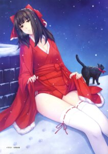 Rating: Safe Score: 79 Tags: buruma caucasus christmas cleavage garter kimono nanatsuki_venio neko sugina_miki thighhighs User: crim