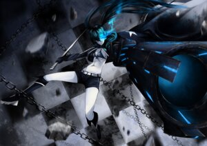 Rating: Safe Score: 30 Tags: bikini_top black_rock_shooter black_rock_shooter_(character) cleavage gun open_shirt sg_fremontbar sword vocaloid User: mash